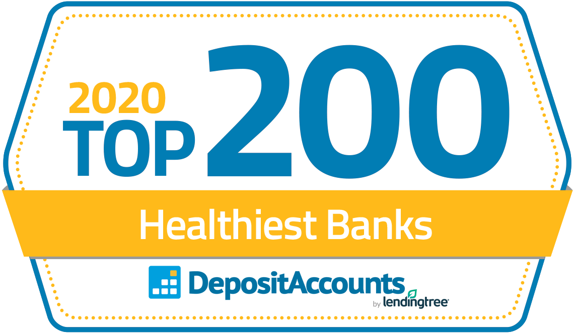 Badge: 2020 Top 200 Healthiest Banks